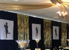Hire decorative drapes, and fabrics also black velvet drapes