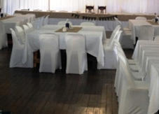 Chair covers - Stretch Lycra and Satin - black, white, coloured