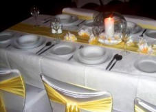 Hire Sashes, Table-runners - satin, organza etc. many colours