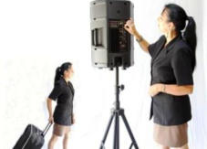 Hire Portable PA 240v+Battery - Sound Systems - microphones