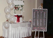 Hire wedding decorations - wishing well - signing table