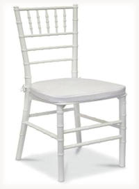 Hire traditional wedding and dinner chair - white