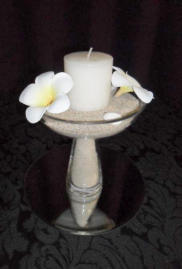 Glass Centerpiece - candle wax safe