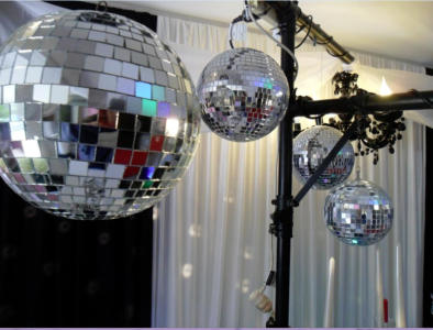 Hire lighting bars and mirror balls