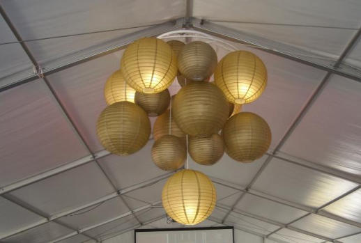 Hire Contemporary chandelier - based on paper lanterns